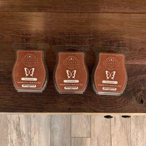 New Scentsy brownie batter wax bar trio